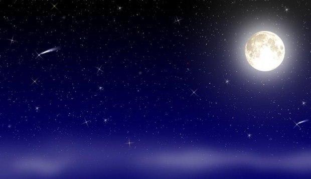 В звёздном небе.