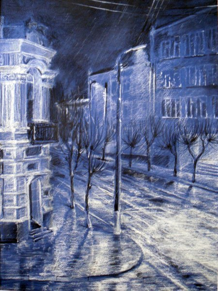 Ночь улица фонарь аптека ночь улица
