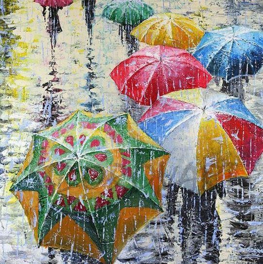 В реке дождя
