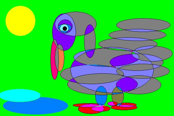 Я рисовал ворону
