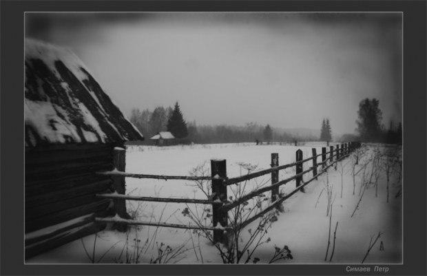 В родной деревне холодно и пусто(Посв. моим родителям.)