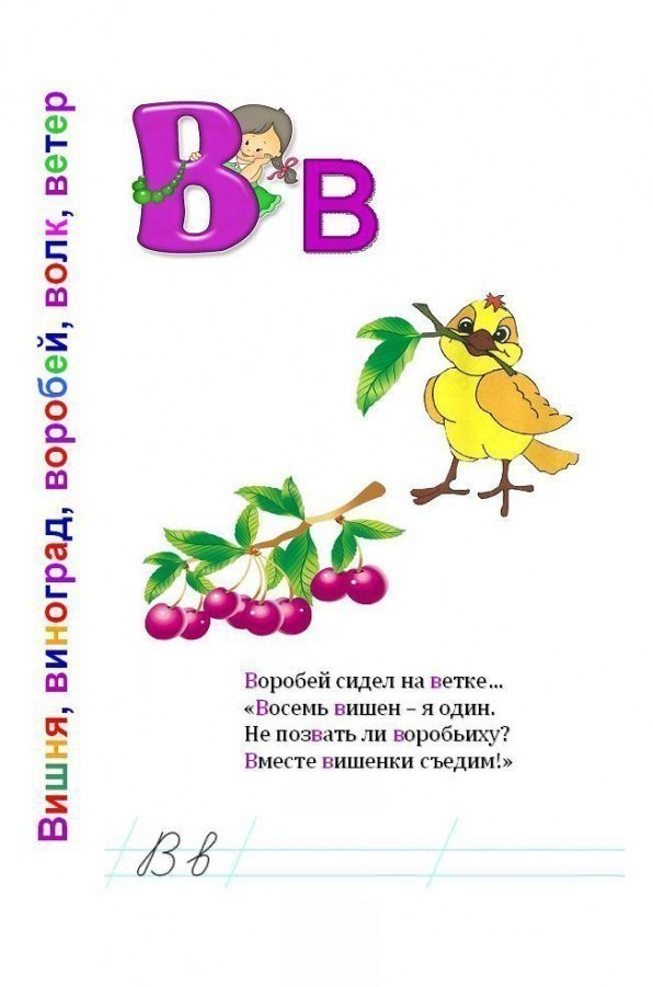 Буква В. Потешная азбука