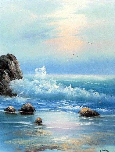 """Рхема вышивки Морской пейзаж"""""""