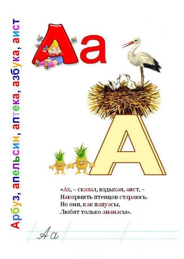 Буква А. Потешная азбука