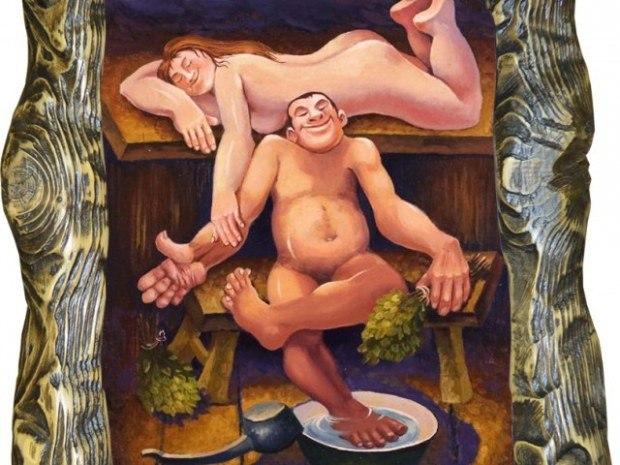 фото жена и муж в бане