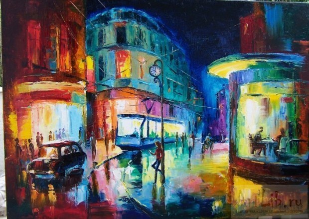 Город вечерний